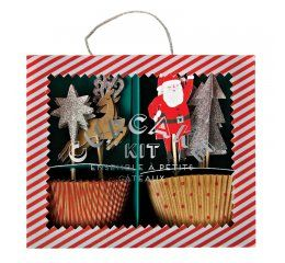 Cupcake kit Navidad Jingle all the way