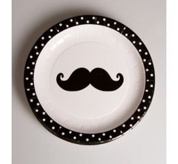 Set de 8 platos moustache