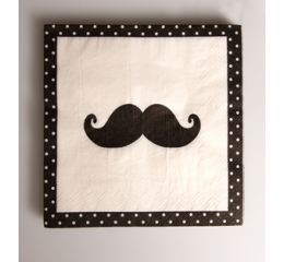 Set de 20 servilletas moustache