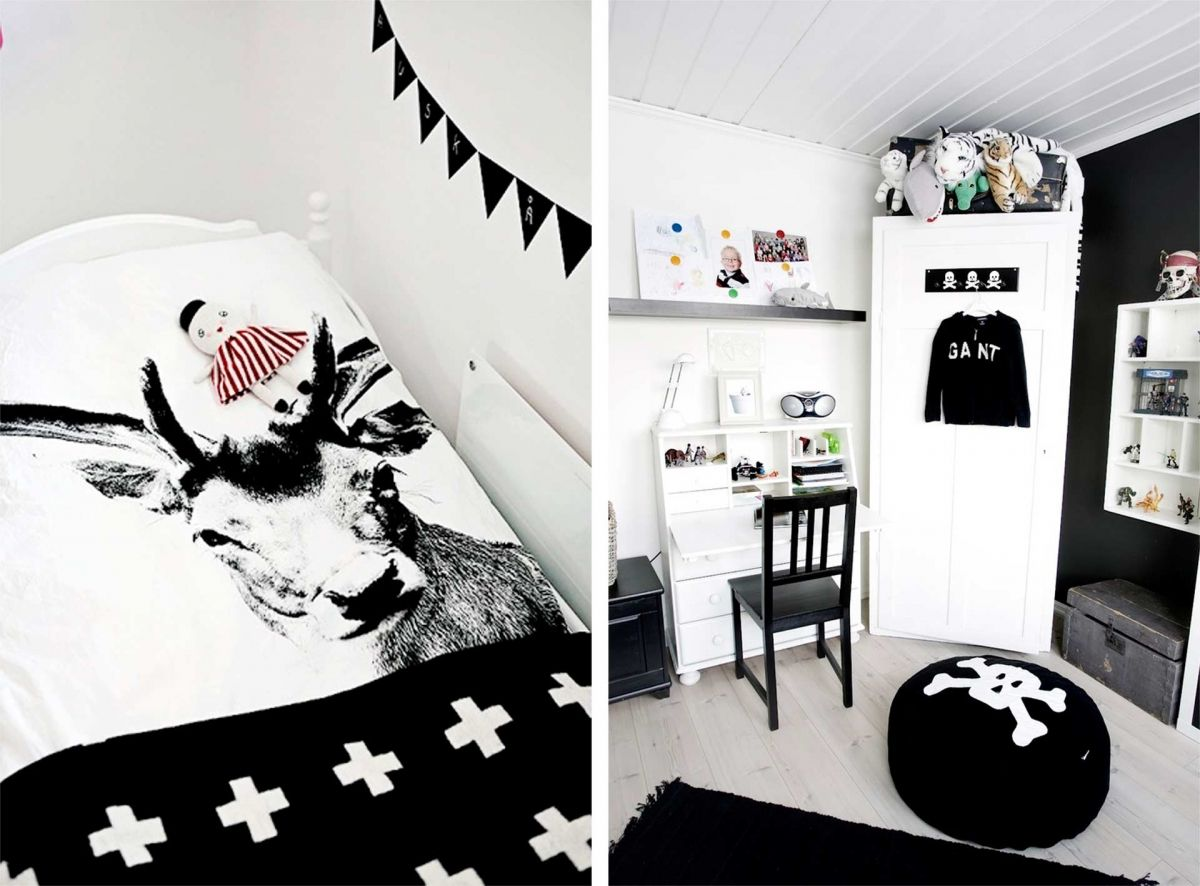 Habitaciones infantiles en blanco y negro be trendy my kid - Decoracion blanco y negro ...