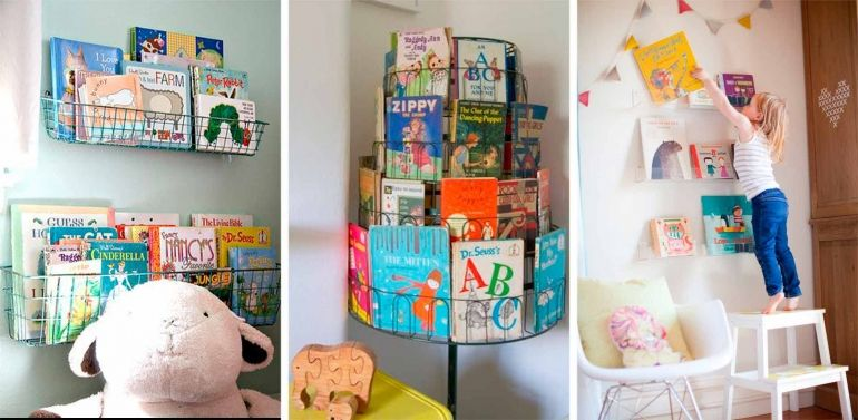 Ideas para almacenar libros be trendy my kid for Ideas almacenaje